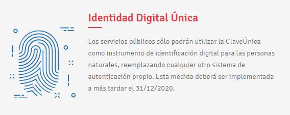 Identidad digital unica